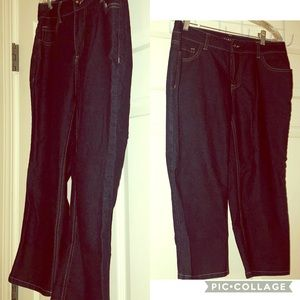 🆕 Baccini Denim Blue woman's Capri Jeans Size 10.